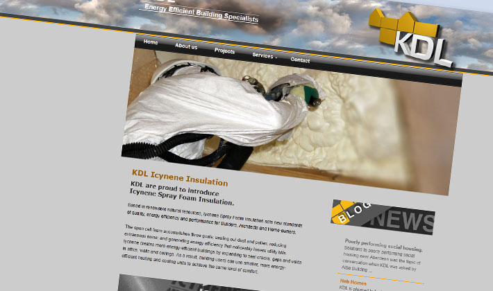 Kdl 's new website by webcompany graphic designers Inverness